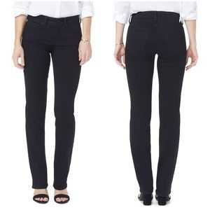 NYDJ Marilyn Straight Jeans sz 2P in Black